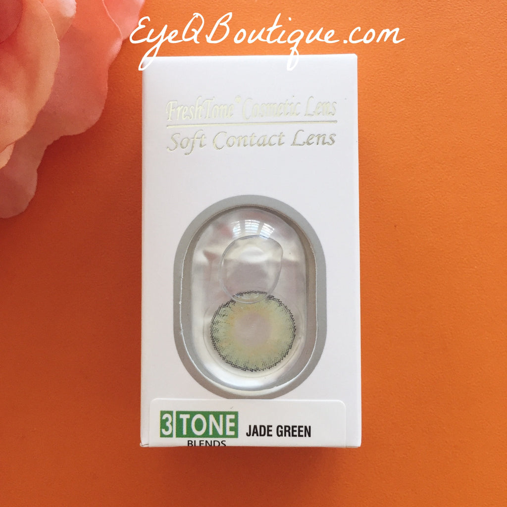 FRESHTONE JADE GREEN COSMETIC COLORED CONTACT LENSES FREE SHIPPING - EyeQ Boutique