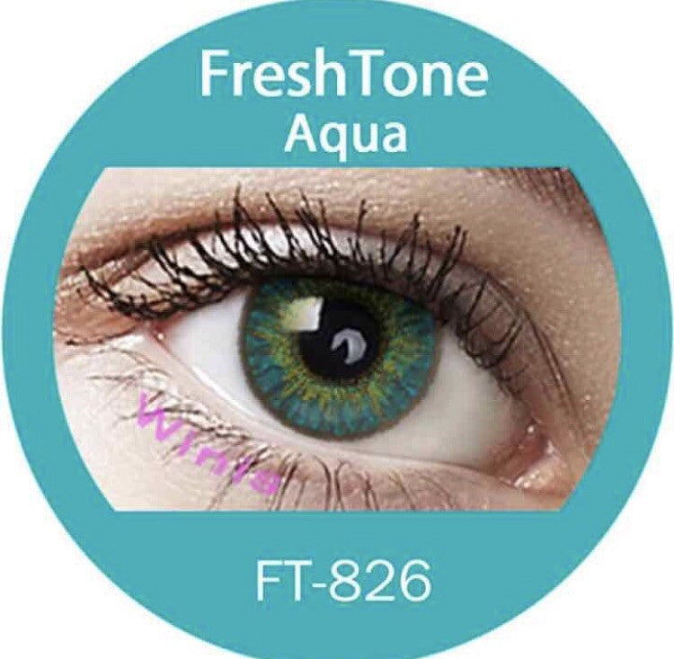 FRESHTONE AQUA COSMETIC COLORED CONTACT LENSES FREE SHIPPING - EyeQ Boutique