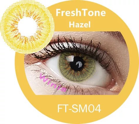FRESHTONE MELLOW HAZEL COSMETIC COLORED CONTACT LENSES FREE SHIPPING - EyeQ Boutique