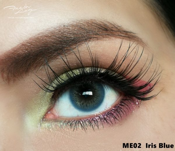 FRESHLADY IRIS BLUE COLORED CONTACT LENSES COSMETIC FREE SHIPPING - EyeQ Boutique