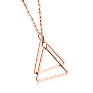 triangle handshake necklace