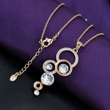 circle pendant necklace in rose gold