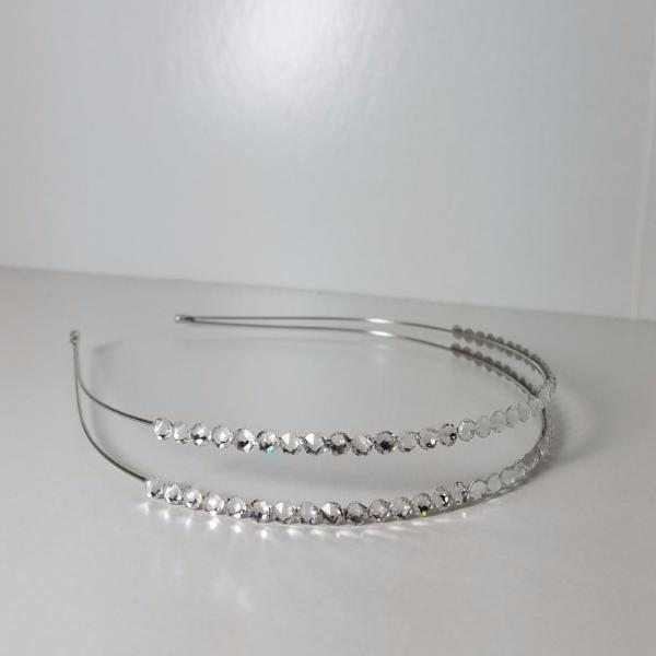 Swarovski Crystal Rhinestone Double Row Headband
