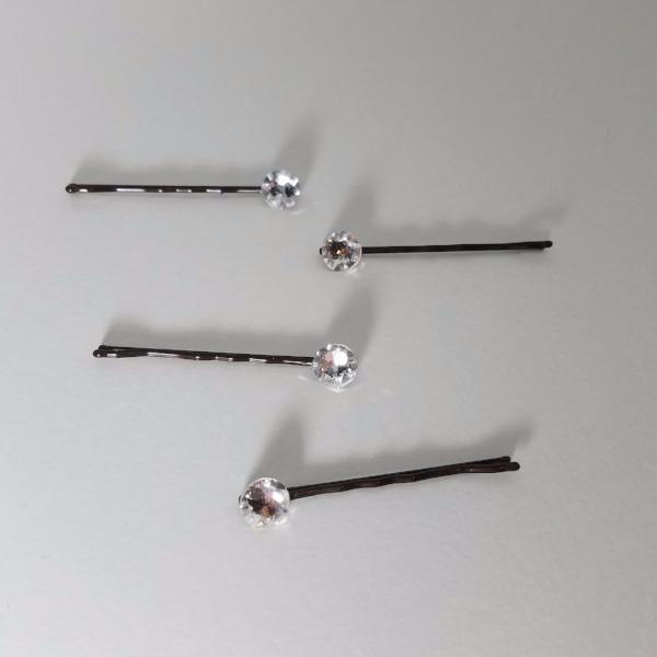 Large Stone Swarovski Crystal Bobby Pin Set