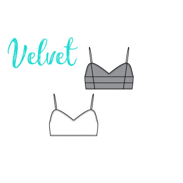 ReShapable Looks Spaghetti Strap Bra in Velvet