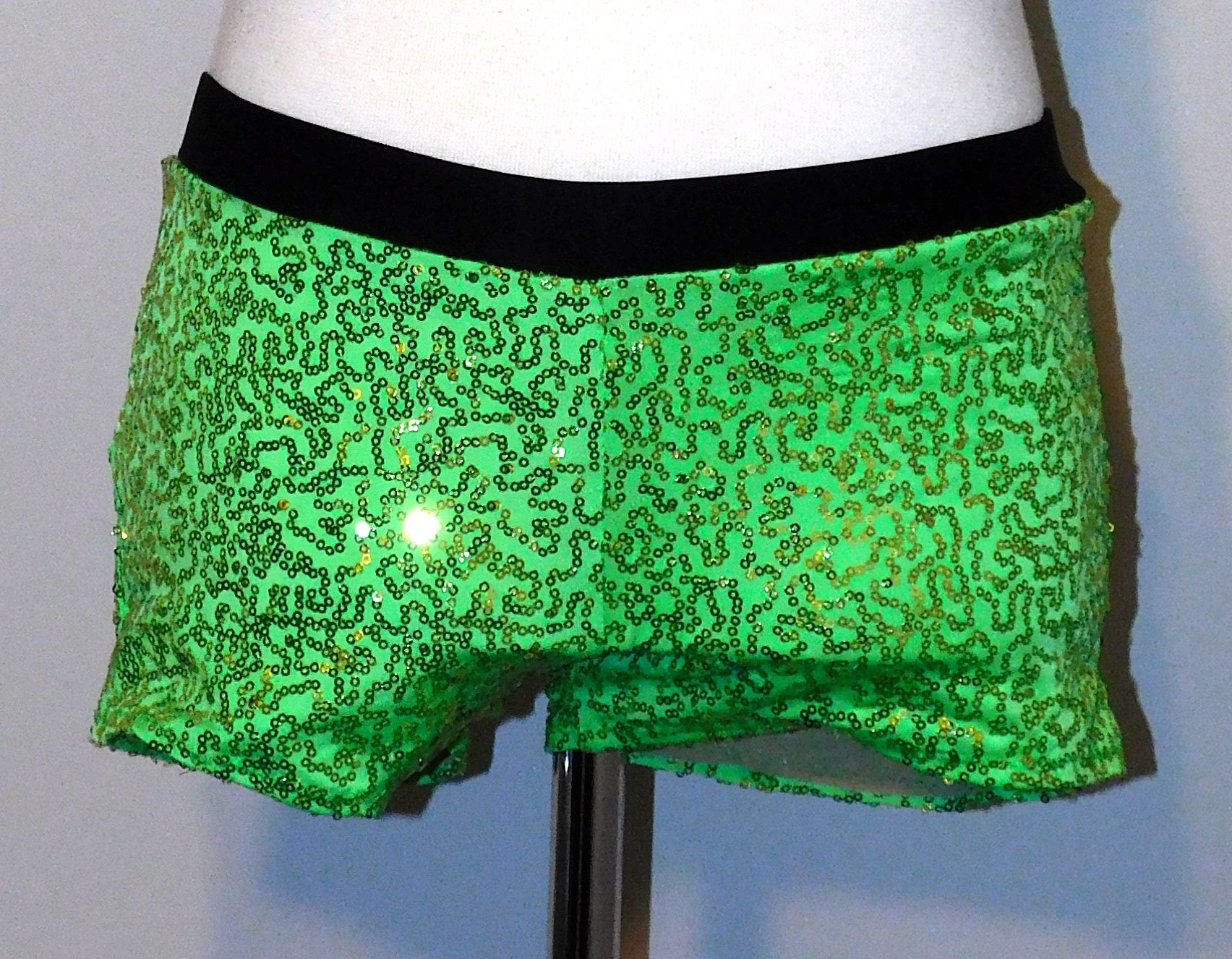 ReShapable Looks Shorts Sequin Fabric