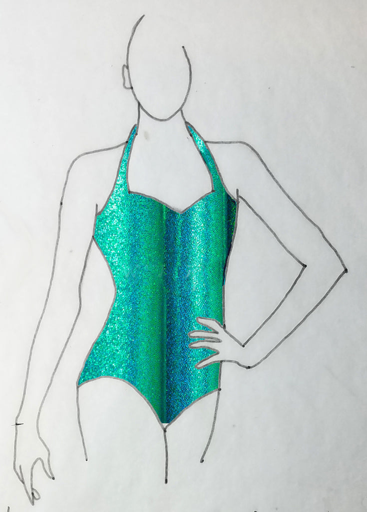 ReShapable Looks Halter Leotard Mystique Colors