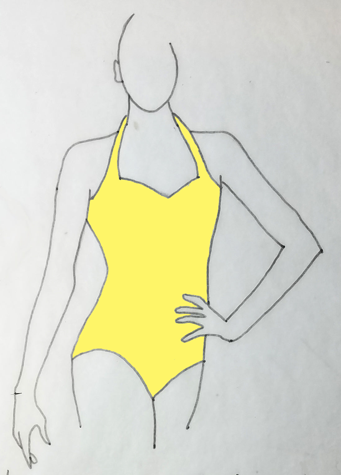 ReShapable Looks Halter Leotard Solid Colors