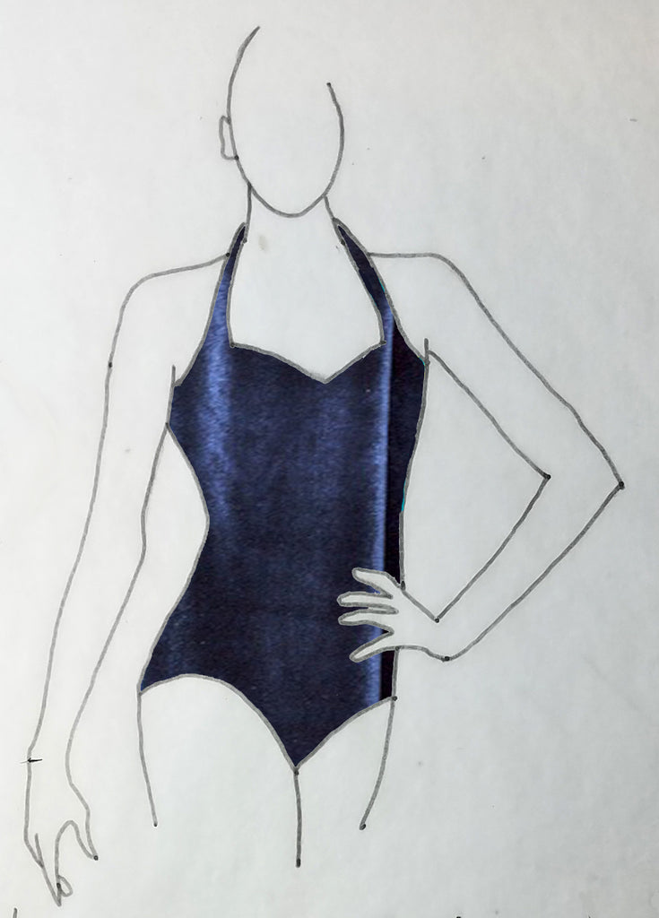 ReShapable Looks Halter Leotard in Velvet