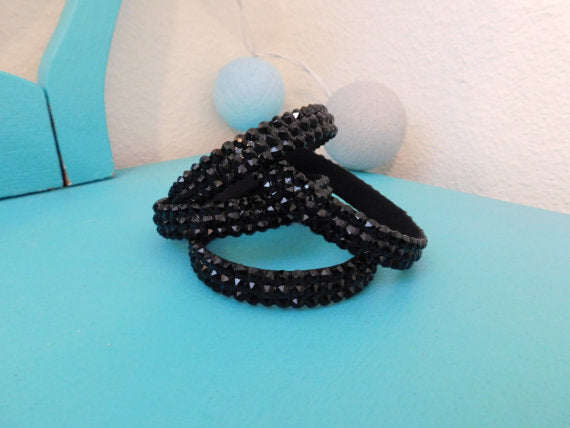Ballroom Bangles in Shades of Black and White