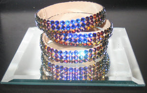 Ballroom Bangles in Shades of AB Blue