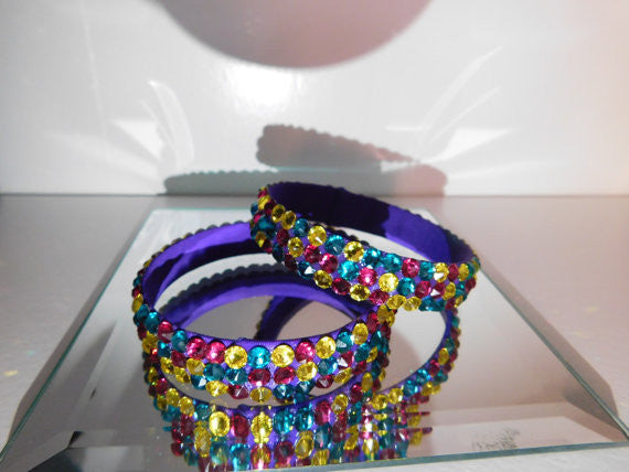 Ballroom Bangle with Multicolor Stones