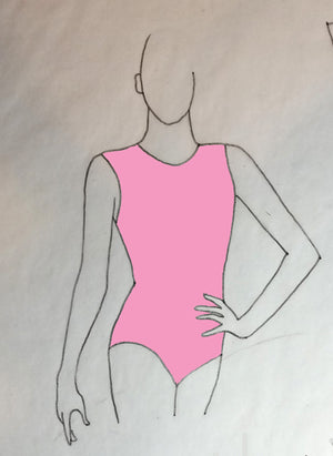 ReShapable Looks Keyhole Leotard Solid Colors