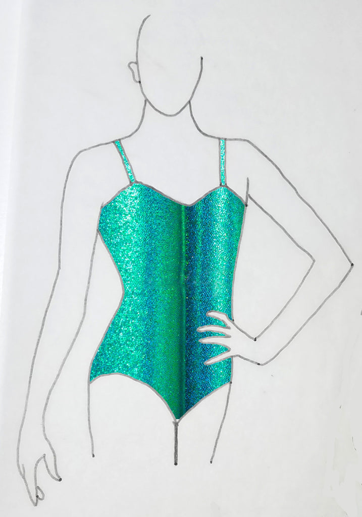ReShapable Looks Spaghetti Strap Leotard Mystique Colors