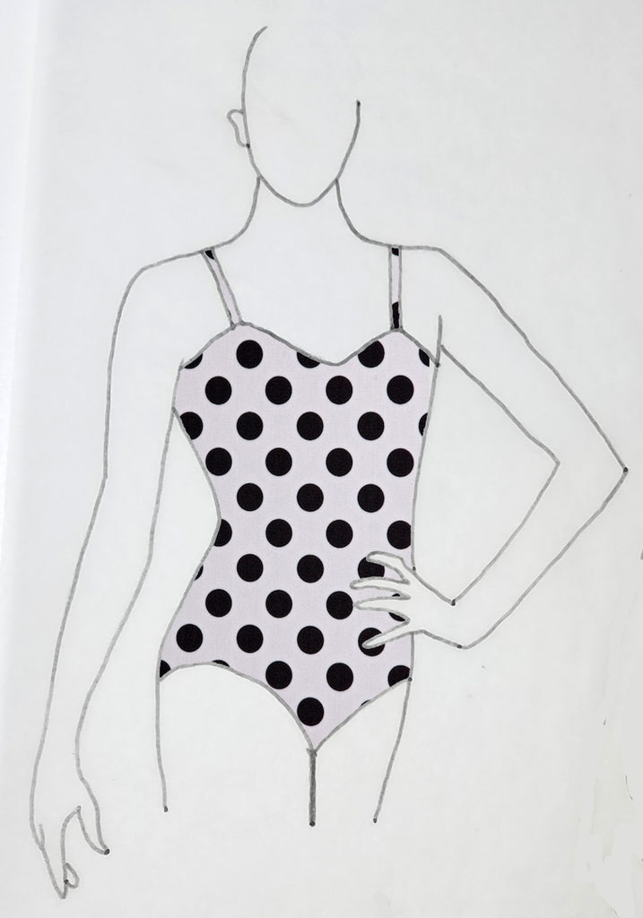 ReShapable Looks Spaghetti Strap Leotard Prints