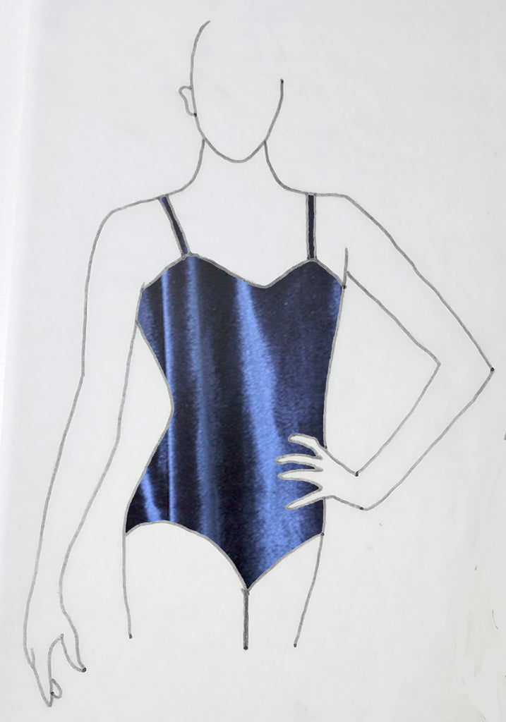 ReShapable Looks Spaghetti Strap Leotard in Velvet
