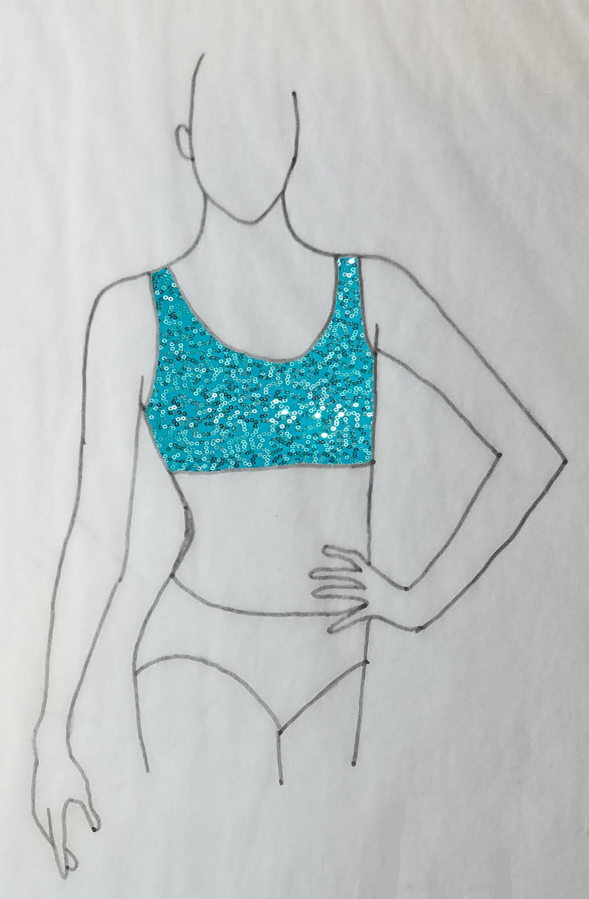 ReShapable Looks Tank Bra Sequined Spandex