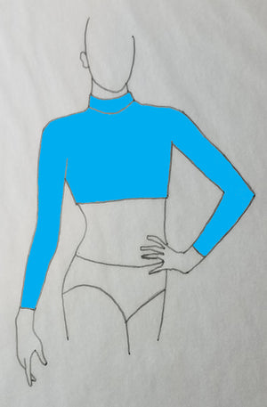 ReShapable Looks Mock Turtleneck Crop Solid Colors