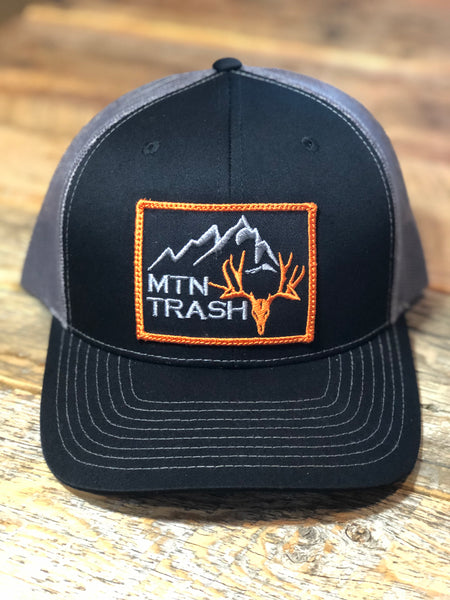 Black & Charcoal Muley Patch