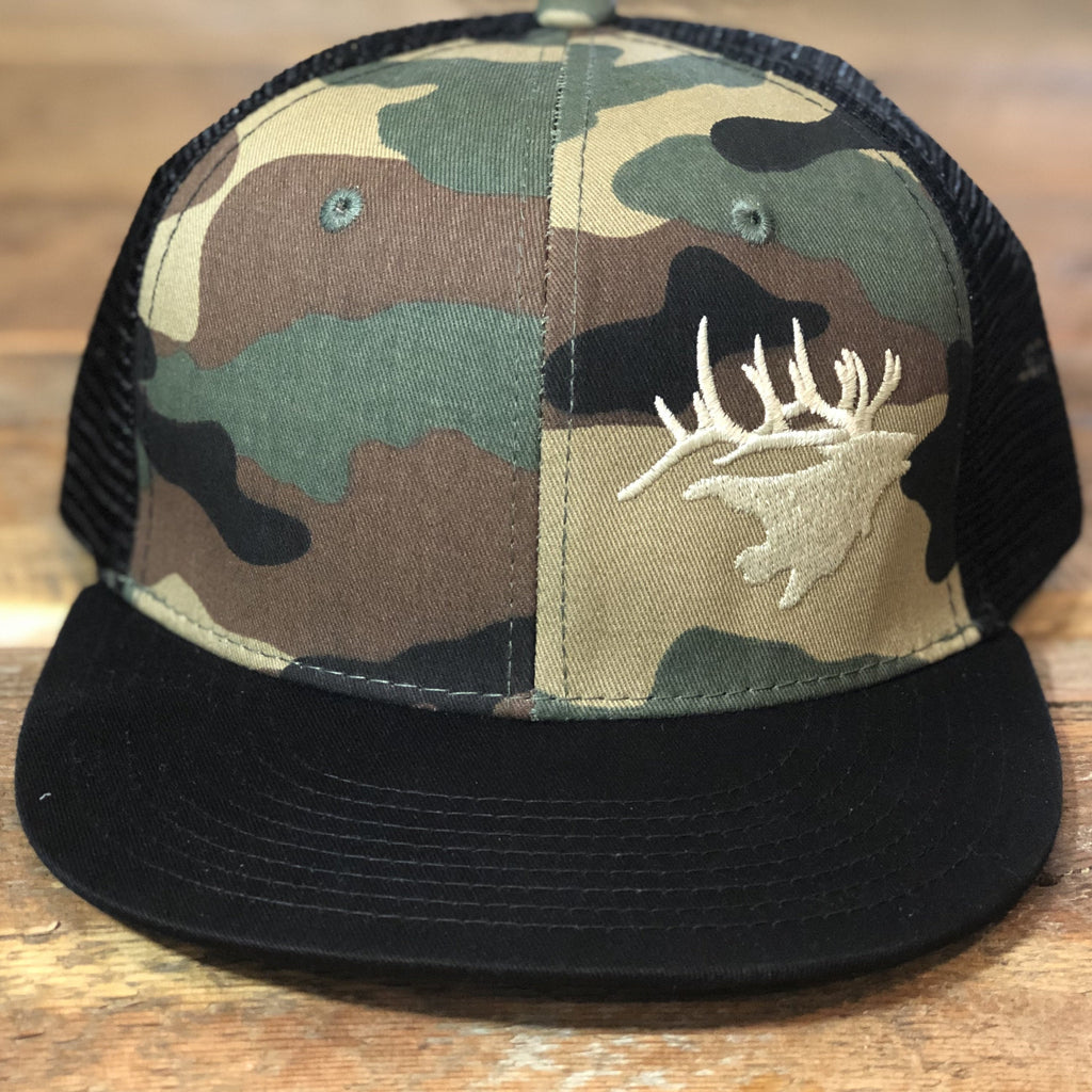 Camo Crown Elk Snapback