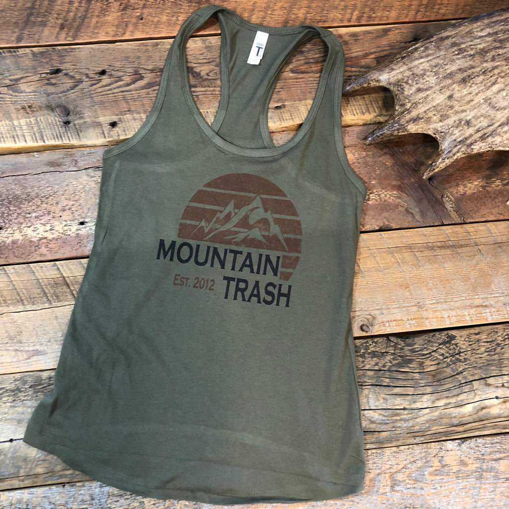Military Green Sunset Tank