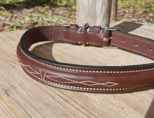 Tyri & Finn Leather Dog Collar