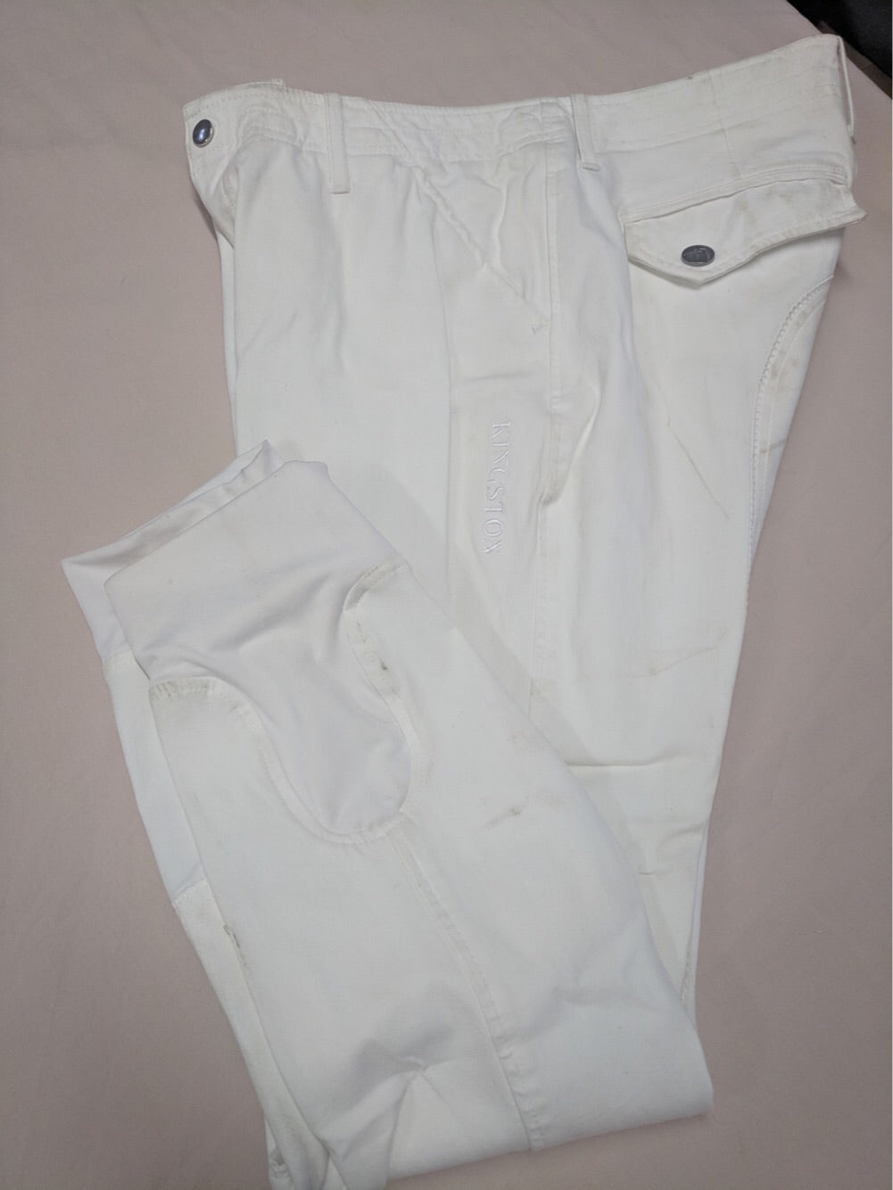 HKM Men's Breeches White size 52 (1299935592550)
