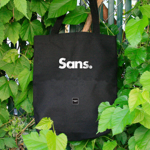 From TypographyShop: Sans Serif Tote Bag. Made in America. - Progresswear
