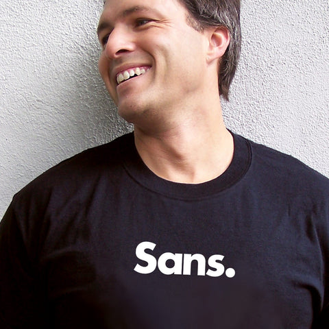 Sans T-shirt for graphic designers and typophiles from TypographyShop on Progresswear.com