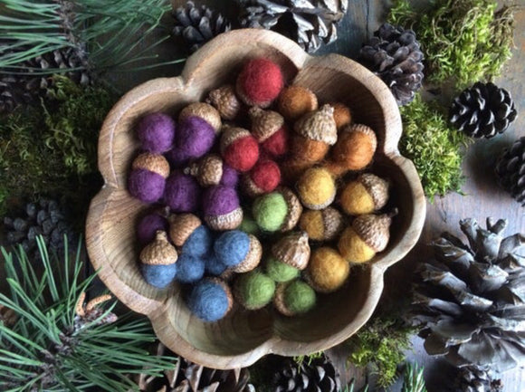 Felted Wool Acorns