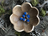 Felted wool acorns, set of 6, Blueberry Blue