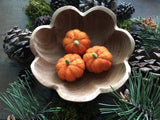 Felted wool pumpkins, set of 3, Pumpkin Orange