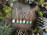 Felted Wool Acorn Ornaments, set of 6, Mint Green