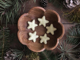 Felted wool stars, set of 5, Lemon Chiffon