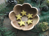 Felted wool stars, set of 5, Harvest Gold