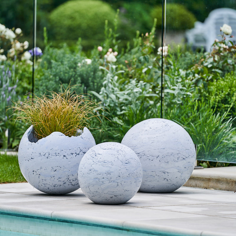Shell Planters, Planters, Concrete Planters, Spheres, Boulders, Garden Globes, Garden Balls, Garden Art, Concrete Garden Balls, Landscape Design, Sculpture, NZ Homes & Gardens, NZ Made, Locally Made