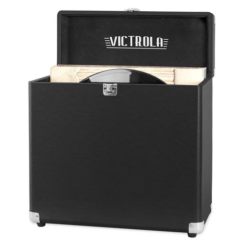 Victrola Vintage Vinyl Record Storage Carrying Case for 30+ Records, Gray - Awesomesince84