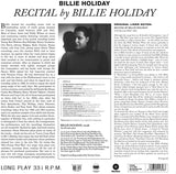 Billie Holiday ‎– Recital By Billie Holiday
