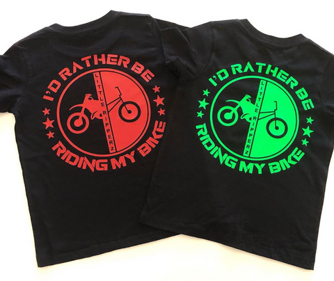 I'd rather be riding my bike tee