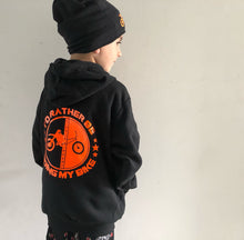 I'd rather be riding my bike - Black hoodie