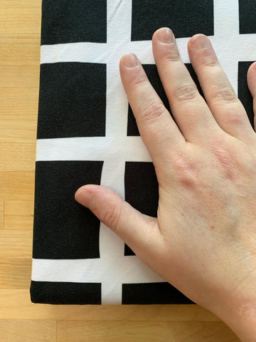 Giant Wiggle Grids Cotton Lycra