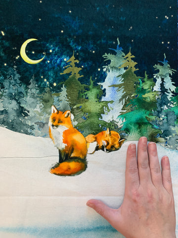 Frosty Foxes Canvas Pocket Panels