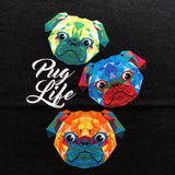 French Terry Geo Pug Life Romper Panel