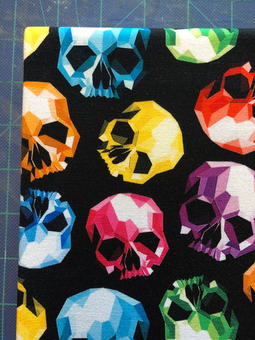 Rainbow Geo Skulls Canvas