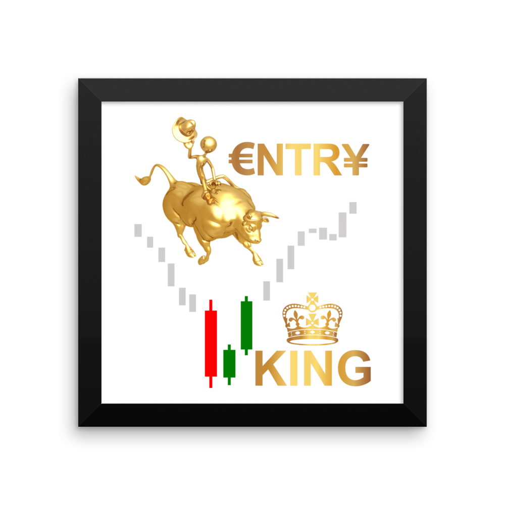 Entry King Framed poster for Trader's Wall