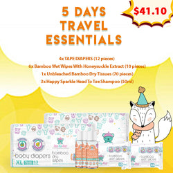 5 Days Travel Essentials (Tape Diapers)