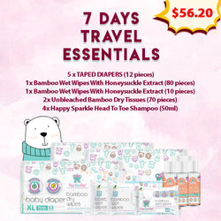 7 Days Travel Essentials (Tape Diapers)