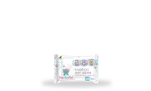 ~1 x Bamboo Wet Wipes With Honeysuckle Extract (10 pieces)