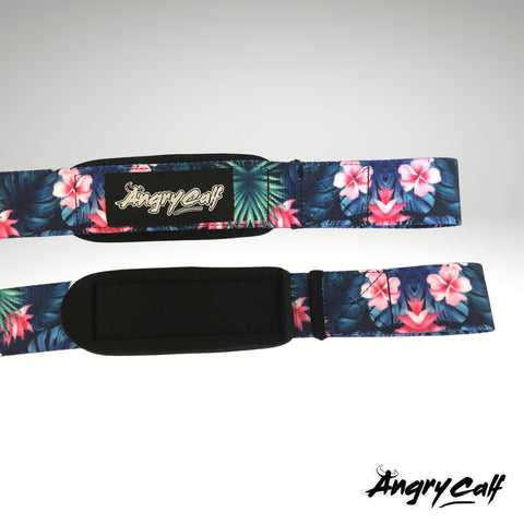 """Cherry Blossom"" - Angry Calf Barbell Lifting Straps"
