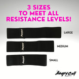 Grow the perfect booty with Angry Calf Back to Black Booty Bands for Booty Workouts Fitness Exercise Equipment Home Workout Booty Band Sizing